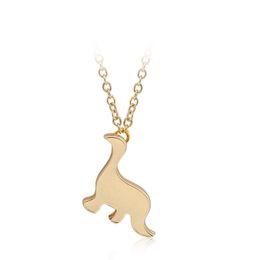 2019 joyas de dinosaurio de oro Vintage Dinosaurio Collares Mujeres Hombres Joyería Extrema Simplicidad Metal Animal Collar Colgante de Oro Plata Color Nueva Llegada rebajas joyas de dinosaurio de oro