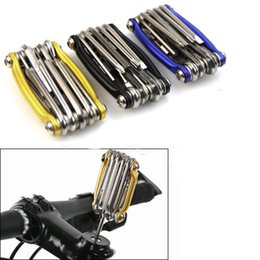 Wholesale Moutain Bicycles - icycle Accessories Bicycle Repair Tools 4 Colors 11 In 1 Multi-function Moutain Road Bike Bicycle Tools Bike Accessories Wrench Chain Cu...