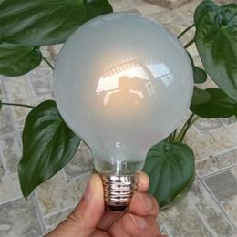 2019 lâmpadas de vidro fosco Lâmpada de LED de vidro fosco G80 Dimmable E27 4W 6W 8W 85-265V Vintage Retro filamento COB lâmpada lâmpadas de vidro fosco barato