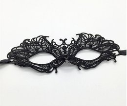 Wholesale Sexy Eve - New Products Cross-border Black Mask Party Black Sexy Lace Face Funny Eve Halloween Party Mascara Mask