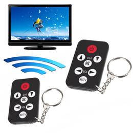 Canada Portable Universel Infrarouge IR Mini TV Set Télécommande Sans Fil Smart Control Controller Porte-clés Porte-clés 7 Touches Bouton Noir Offre