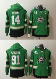 Argentina Mens Dallas Stars Hoodies Jersey de hockey 14 Jamie Benn 91 Tyler Seguin Sudaderas Winter Jacket Green Envío gratis cheap mens green winter jacket Suministro