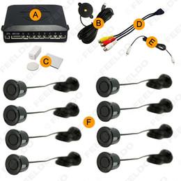 Wholesale Rearview Systems - FEELDO Car 8 Sensors Dual Rearview Visual Video Parking Sensor Backup Radar System SKU#:2848