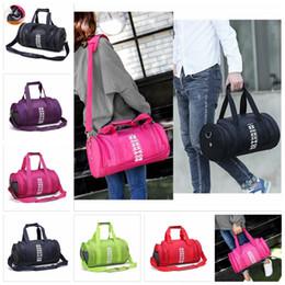 Wholesale Pc Fitness - Beach Bag Totes Women Men Handbags Letter Travel Bags Pink Letter Duffle Shoulder Bags Fashion Fitness Yoga Bags 24 pcs YYA425