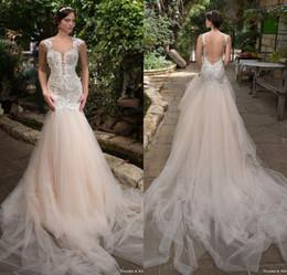 Wholesale Garden Goods - New Arrival 2017 Spring Vestidos De Noiva Lace Appliques Bruidsjurk With Pearls Good Quality Tulle Skirt Wedding Dress 2017