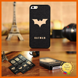 Wholesale Cool Iphone 4s Cover - Ultra-thin Cool Cartoon Super Hero Face Phone Case Cover For iPhone4 4S 5 5s 5C SE 6s plus
