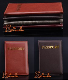 Wholesale Document Protector - Passport Cover PU Leather 14.2*9.8cm ID Holders Documents Bag Alligator Wallet Embossing Passport Holder Protector