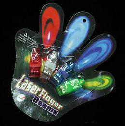 magie grandes illusions Promotion LED mitaines gants doigts faisceaux anneau lumières rave party doigts laser lueur enfants jouets opp paquet livraison gratuite