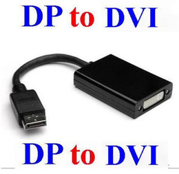 Wholesale Pc Dvi - Thunderbolt Display Port DisplayPort DP Male to DVI Female Converter Cable Adapter for PC Laptop 1080P
