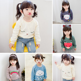 Wholesale Wholesale Hot Pink Cotton Hoodies - Hot sale Good quality 5 colors baby girl Girls T-shirts fashion Tops &Tees hoodies kids boys girls autumn fall 2016 new