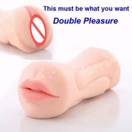 Wholesale Male Oral Sex Toys - Realistic Oral 3D Deep Throat with Tongue Teeth Maiden Artificial Vagina Male Masturbators Pocket Pussy Oral Sex Toys for Men