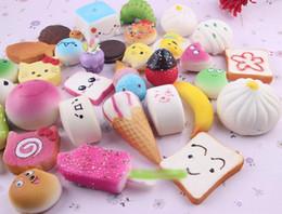 2019 novo arco íris aumentou 2017 New arrival 10 pçs / lote Lento Rising Squishy Rainbow sweetmeats bolo de sorvete pão Morango Charme Telefone Straps Macio Fruit Kids Toy novo arco íris aumentou barato