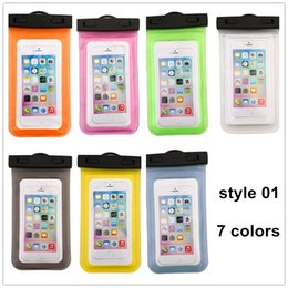 Wholesale Top Waterproof Iphone 5s Cases - 2016 Top sale waterproof bags Colorful swiming cases with Strap Dry Pouch for galaxy s7 iphone 5s SE 6s plus Hybrid iphone cases