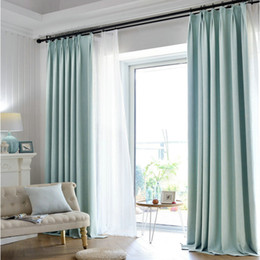 Wholesale Modern Curtains For Living Room - Luxury Linen Cotton Blackout Curtain For Living Room Bedroom Kitchen Solid Color Modern Minimalist Pattern Home Decoration