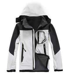 Wholesale Sport Jackets Men Soft Shell - TNF Men Winter Coat Hiking Jacket Soft Shell Hoodie Outdoor Sports Polar Fleece Clothing Keep Warm Clothes Sportswear 6 Colors S-XXL