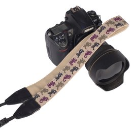 Wholesale Dslr Camera Bag Waterproof - Cute Kitty DSLR SLR Camera Shoulder Strap For Canon Fujifilm Olympus Pentax Samsung Sony Other SLR DSLR Neck Belt Funny Cat Pattern