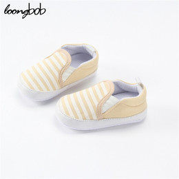 Wholesale Baby Firstwalker - Wholesale- Baby Boys Shoes Baby Navy Striped Girls Newborn Sneakers Anti-slip Firstwalker Infantil Toddler Causal Shoes Costume
