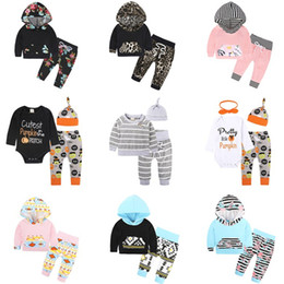 Wholesale Tight Clothes Sets - Baby Girls Boys Clothing Sets Toddler Infant Newborn 3PCS Suit Tops Pants Hat Boys Girls Leggings Tights Sweatshirt Pants Kids Clothes 261
