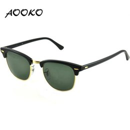 Wholesale Sun Glasses Designer Hot - AOOKO3016 Hot Designer Brand Sunglasses Master Men Sun Glasses Women Outdoor Semi Rimless Retro Sunglass Gafas de sol classical Sunglas 51mm