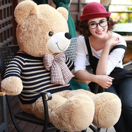 Wholesale Giant Cute Teddy Bear - 100% Cotton Red Cute 100CM 1M Big Giant Stuffed Plush Teddy Bear Huge Soft Toy NEW