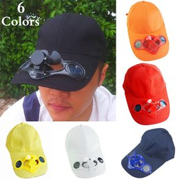 Wholesale Solar Camping Fans - Summer Women and Men Fashion Outdoor Sports Sun Solar Power Hat Cap with Cooling Fan Outdoor Golf Baseball Fishing Cycling Visor Hat ZJ-H05