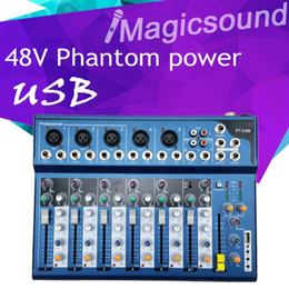 Wholesale Dj Powered Mixer Console - High Quality F7 F7-USB Audio Mixer Console with USB 7 Channel Mixer Sound Console DJ Equipment 48V Phantom Power Supply
