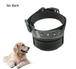 Wholesale Remote Anti Bark Shock Collar - New Anti No Bark Shock Dog Trainer Stop Barking Pet Training Control Collar Automatic Remote Control Adjustable Trainer Collar 60pcs