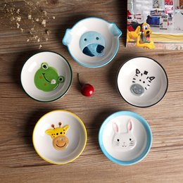 Wholesale Dishes Flatware - Wholesale-Ceramic tableware, cartoon plates, rabbit dishes, creativity flatware, seasoning dish, plate wholesale, 5 pattern optional ~