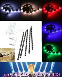 Discount smd led car auto - 2016 new arrivals 30CM 12 LED 3528 SMD Waterproof Flexible Strip Tape Light Car Auto Decor Lamp Battery Operated White Red Blue Green MYY36