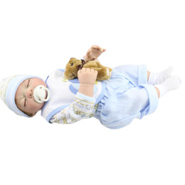 Wholesale Cheap Full Silicone Dolls - Newborn Full Vinyl Silicone Reborn Baby Doll For Cheap Sale 52CM 20 inches Lifelike Realistic Dolls Toys Bonecas juguetes bebe