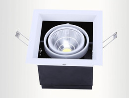 Wholesale Recessed Lighting Prices - wholesale price 10W 20W 30W Warm Cold Whit LED Bean Pot Lights 85-265V recessed LED Grille Lamp high power LED Grid Light indoor led light