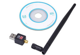 Wholesale Wholesale Satellite Antenna - Mini USB WiFi 5dB 150Mbps Wireless Adapter Computer LAN Card 802.11n g b with Network Card Antenna for satellite receiver pc