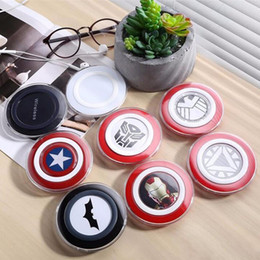 Wholesale Qi Standard - Wireless Charger Fast Charging QI Standard Avenger Captain America for Samsung Galaxy S6 S6 Edge with Retail Package