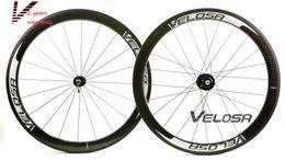 Wholesale Rear Wheel Tracking - Velosa super sprint 50 track bike wheelset, 50mm clincher tubular ,700C track bike carbon wheel,fixed gear