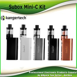 Wholesale Atomizer Kangertech Protank - Original Kanger Subox Mini-C Starter Kit 50W with Protank 5 Atomizer SSOCC 0.5ohm Coil KangerTech kbox Mini C Box Mod 100% genuine 2211074