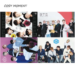 Wholesale Graphics Set - COSY MOMENT 8pcs set KPOP BTS Posters Bangtan Boys Bulletproof Boy Scouts Paintings Room Decorations Wall Sticker QT144