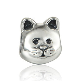 Sterling silber katze armband online-Tierkatze bezaubert Haustier S925 Sterlingsilber, das für die Pandoraart passt, bezaubert die Armbänder, die freies Verschiffen LW553 sind