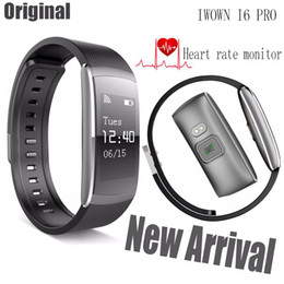 Wholesale Pro Monitoring - Wholesale-New Smart Bracelet iwown i6 Pro Heart Rate Monitor Wristband Activity Tracker For Android IOS Phone iwown i6 Updated version