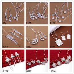 ensembles de bijoux en argent sterling pour femmes avec vente directe d'usine 6 ensembles beaucoup de style mixte EMS34, ensemble de bijoux en argent 925 ? partir de fabricateur