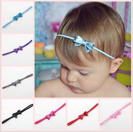 Wholesale Infant Hairbands - Hot Sale!Baby Infants Shiny Paillette Bow Headbands Children Kids Elastic Small Bowknot Hairbands Hair Accessories Princess Headdress KHA308
