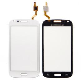 Samsung galaxy s2 teléfono celular online-Samsung i8260 i8262 i8262d pantalla táctil digitalizador reemplazo de panel blanco y negro teléfono celular frente lente de cristal piezas de reparación