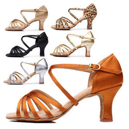 Wholesale Golden Great - Wholesale-Fast Great Discounts&Coupons!! Promotion Price! Popuplar High Quality Latin Dance Shoes for Women Ladies Girls Tango&Salsa