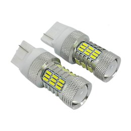 Wholesale W21w Led - Super Bright chipset 7440 W21W T20 turn signal Car LED Bulbs Automobile Lighting Turn Lights Lamp Brake Light
