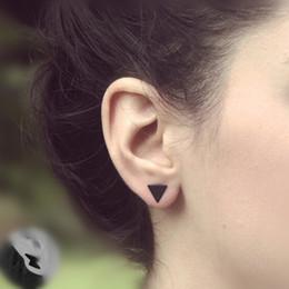 2019 orecchini occidentali di modo New fashion nero oro argento 3 colori triangolo occidentale rotondo flash orecchini per le donne regali gioielli orecchini occidentali di modo economici