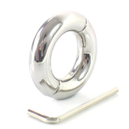 Wholesale Stainless Steel Cbt - Adult Male Cock and Ball Torture 210 200 Gram Stainless Steel Ball Stretcher Weight with Hex Head Key BDSM CBT Sex Toys