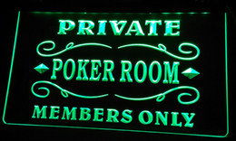 Wholesale poker signed - LS094-b Private Poker Room Member Room Neon Light Sign