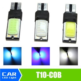 Wholesale Car Led Lights Canbus - T10 194 168 W5W White Blue Iceblue COB LED Bulbs Interior Parking Car Vehicle Backup Canbus no erro Light