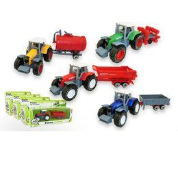Wholesale Model Farm - New Arrival Mini Educational Toy 1:64 Alloy Tractor Toy Rural Truck Small Farmer Model Children's Toy Metal Model Farm Truck