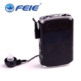 Wholesale Hearing Aid Pocket - 2016 feie Free shipping feie pocket hearing aid S-16 with high quality sound amplfier personal devices