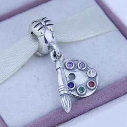 Wholesale Angels Pen - Loose beads Fits Pandora Original Charms Bracelet Watercolor pen Charm New Original Authentic 925 Sterling Silver Beads DIY Jewelry 1pc lot